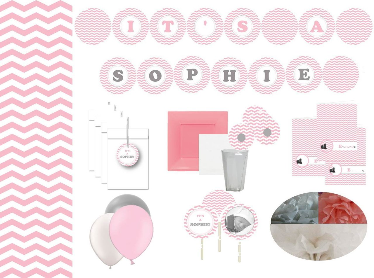 Premium partyset it 39 s a sophie for Dekoartikel party