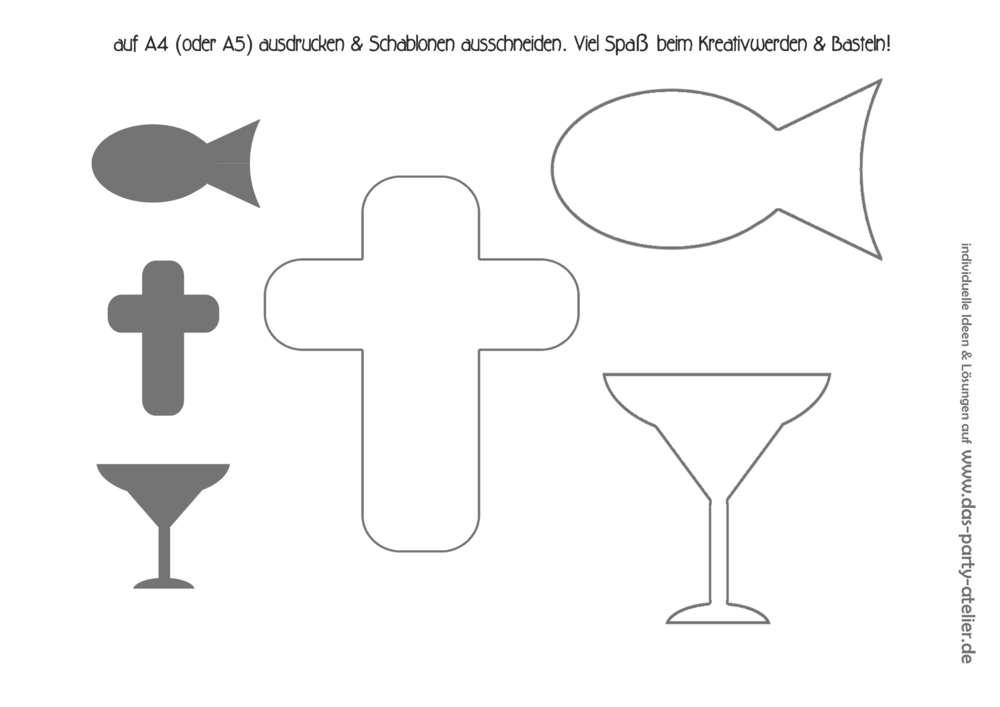 Gratis Download Schablonen Kommunion Taufe Konfirmation Www Das
