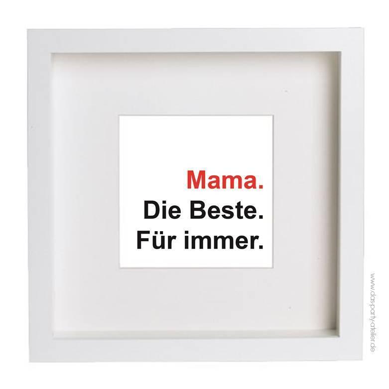 MUTTERTAGs-Print mit Bilderrahmen, quadratisch (23x23cm) - www.das ...