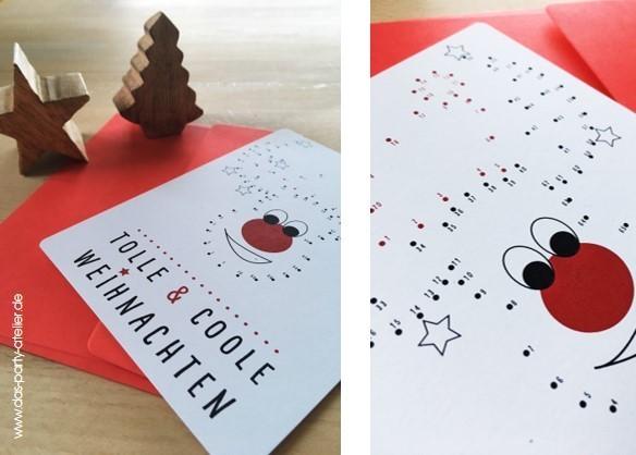 Weihnachtskarten Malen.Weihnachtskarte Elchtest Mit Umschlag
