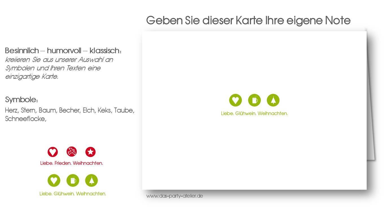 Weihnachtskarte LIEBE.FRIEDEN.WEIHNACHTEN II - www.das-party-atelier.de