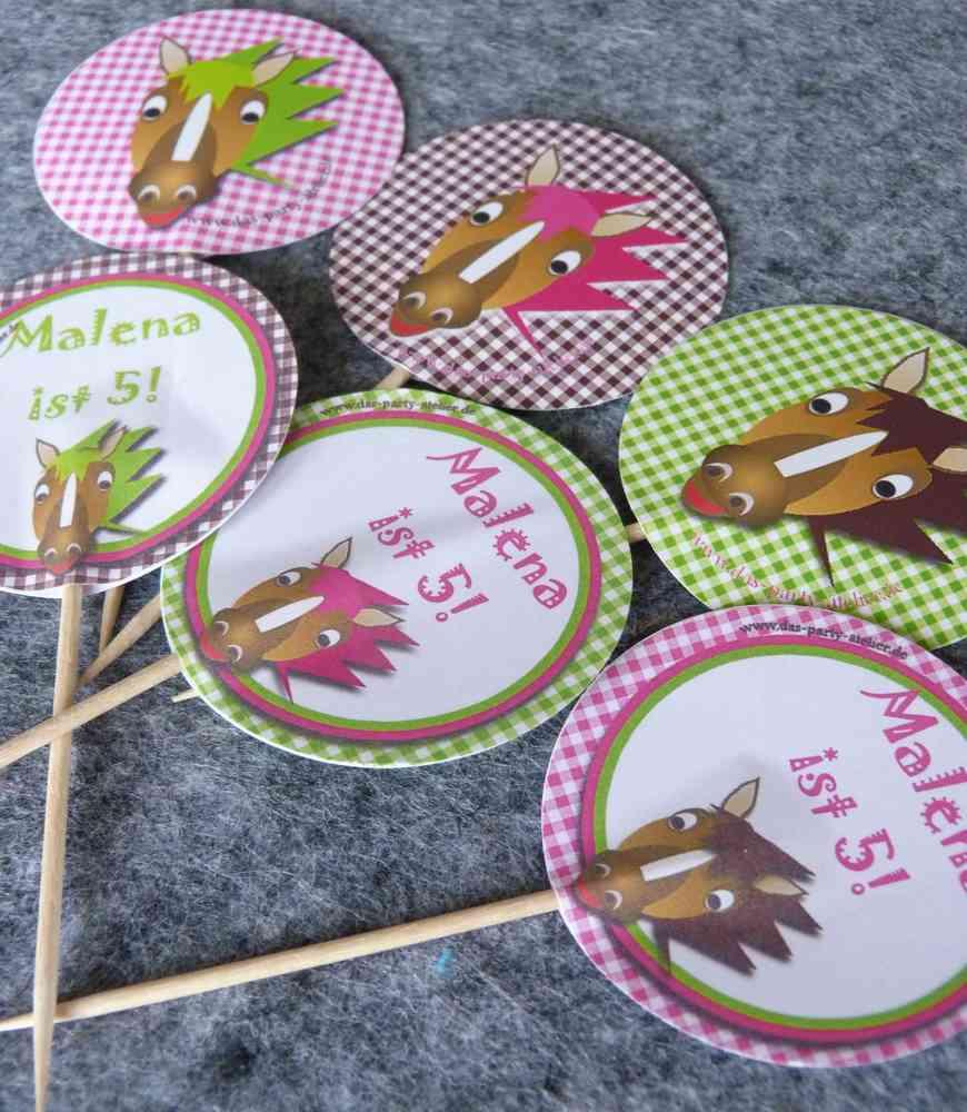 Kuchendeko Pferde 6 Stck Www Das Party Atelier De