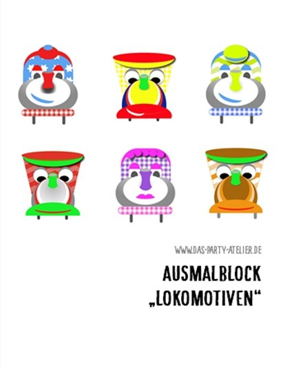 Malblock LOKOMOTIVEN (Download)