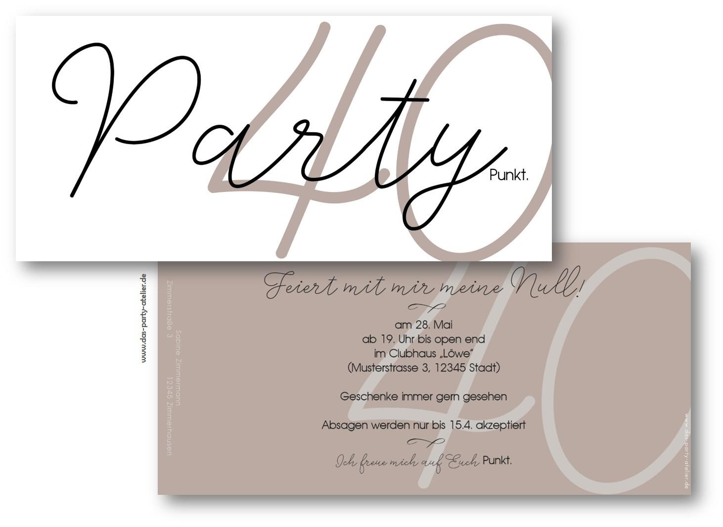 Einladung Party Punkt Mit Umschlag Www Das Party Atelier De
